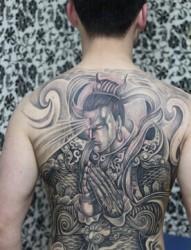 拥有三只眼睛的天将 二郎神纹身