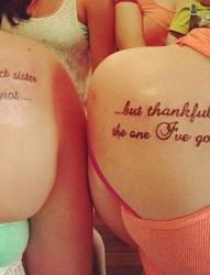 一组唯美的闺蜜字母纹身图案