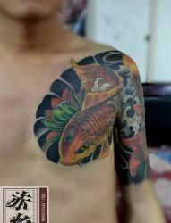 招财纹身图案鲤鱼纹身