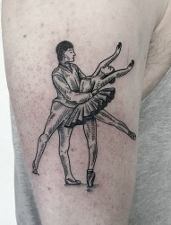 时尚经典人物纹身