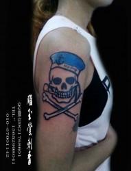 手臂欧美风格纹身