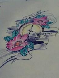 指南针纹身手稿素材集