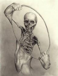 特色恐怖骷髅纹身素材
