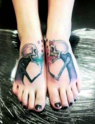 独具趣味的脚背纹身