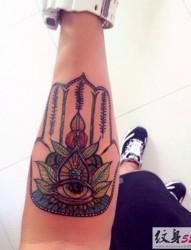 异域纹身之法蒂玛之手纹身