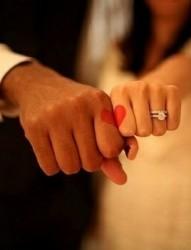 情侣手指红色心漂亮爱情刺青