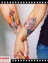 情侣纹身 手臂纹身 重庆升子纹身
