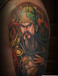 传统中国风关公纹身