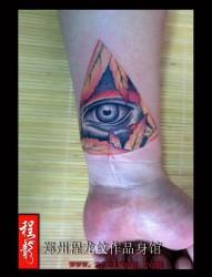 男士手腕眼睛纹身 郑州程龙纹身馆 本店作品