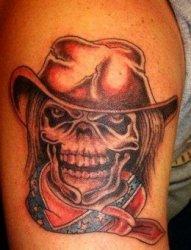 欧美cowboy牛仔男孩纹身图案