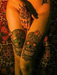 多款各式样的骷髅头纹身图案