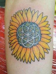 传统向日葵纹身图片来自杰克逊