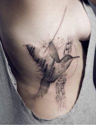 多款微妙的黑色点刺纹身图案