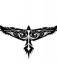 很酷的鹰图腾纹身手稿素材