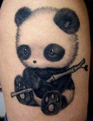 很可爱的很萌的熊猫纹身图案