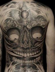 嘎巴拉纹身,满背嘎巴拉纹身,远航纹身