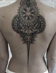 24款漂亮的几何花纹身曼陀罗图案纹身