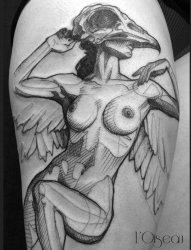 多款黑色现代纹身艺术技法素描纹身图案
