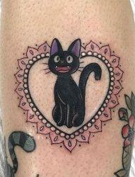 最甜蜜清新的花边心形小动物景象纹身图案