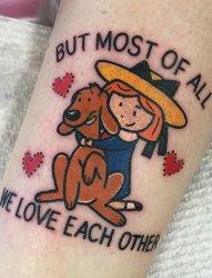 可爱的动漫人物的纹身来自瓦伦丁