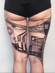 精美的抽象艺术风格的纹身图案来自彼得
