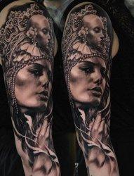 霸气花臂纹身男性满臂纹身图案大全来自纹身师卡洛斯