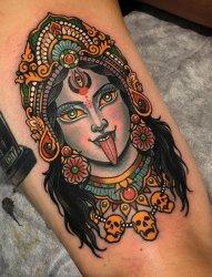 泰国佛教纹身宗教纹身神话人物肖像纹身图案