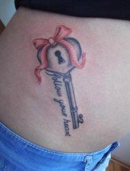 20多款精致的大钥匙纹身图案欣赏