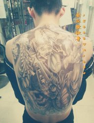 黑白无常纹身#金左堂纹身 #➹盖疤痕➹修改纹身