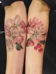 女生喜爱的植物素材文艺花朵纹身图案
