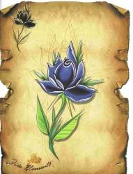 old school风格的花素材带线稿分享