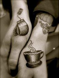 11款表达爱意的小清新创意情侣纹身图案