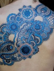 适合女生的几何线条元素唯美花纹纹身图案