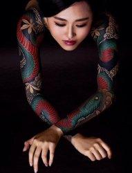 霸气的彩绘植物素材简单线条花臂纹身图案