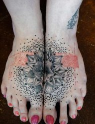 多款黑色线条素描几何元素梵花花纹对称拼接纹身图案