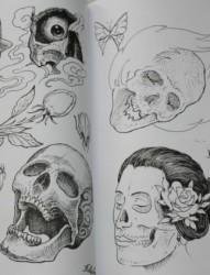 两张骷髅头刺青kuloutouciqing素材图片