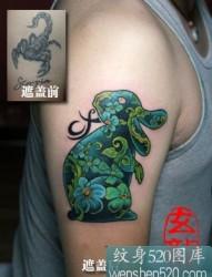 用兔子遮盖蝎子的成功纹身案例