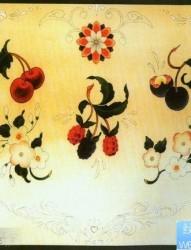 一组小巧流行的樱桃与花卉纹身图片