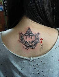小曼纹身之--小象刺青图案