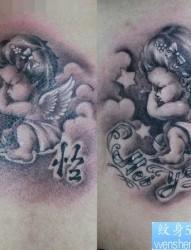 一张可爱的小天使纹身图片