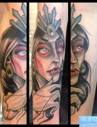 一张欧美人物纹身图片