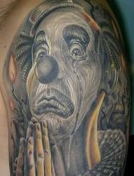 男生纹身图片之欧美3D小丑纹身图片