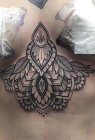 胸部梵花点刺性感tattoo纹身图案