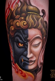 佛与魔一念之间纹身图案