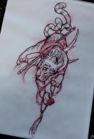 老虎个性纹身图案手稿