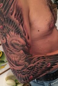 男士手臂上凤凰纹身图案