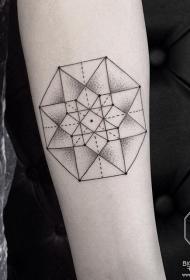 手臂几何点刺小清新tattoo纹身图案