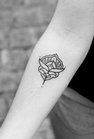 女生小臂小清新梵花纹身图案