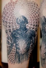 手臂马里斯宇宙纹身图案