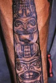 印度动物图腾柱子纹身图案